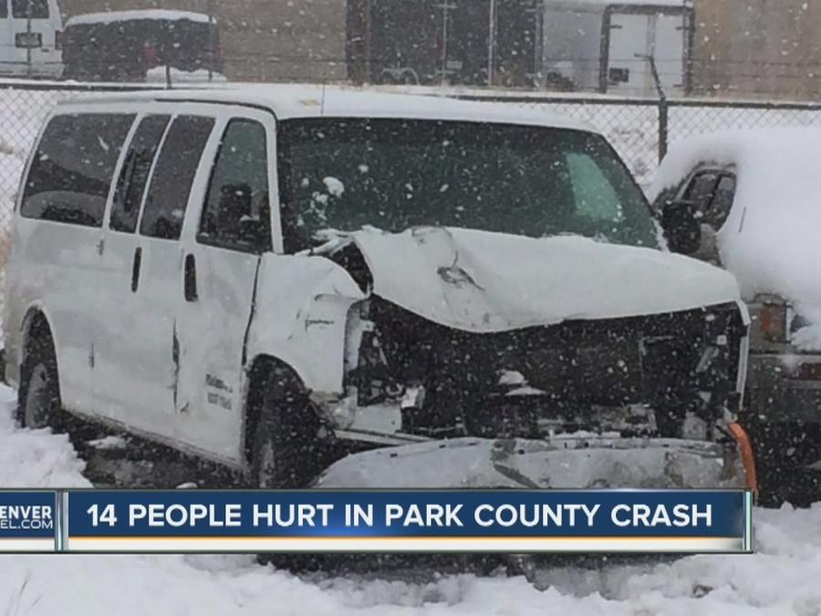 14 people hurt in Park County crash