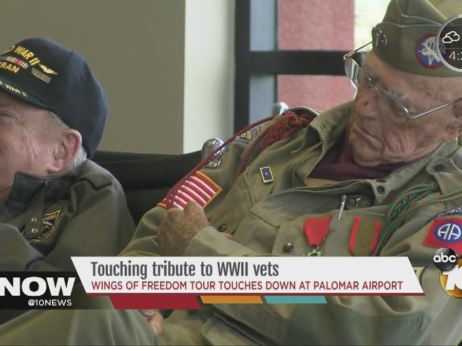 Touching tribute to WWII vets