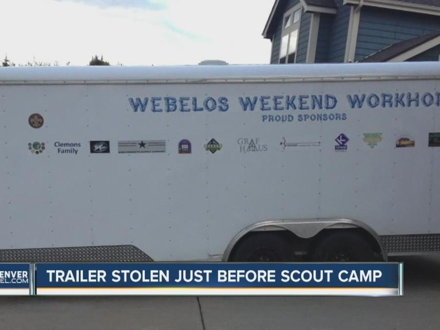 Trailer stolen just before Scout camp
