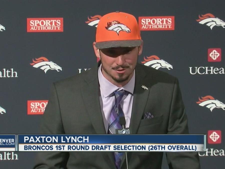 Broncos introduce new QB Paxton Lynch