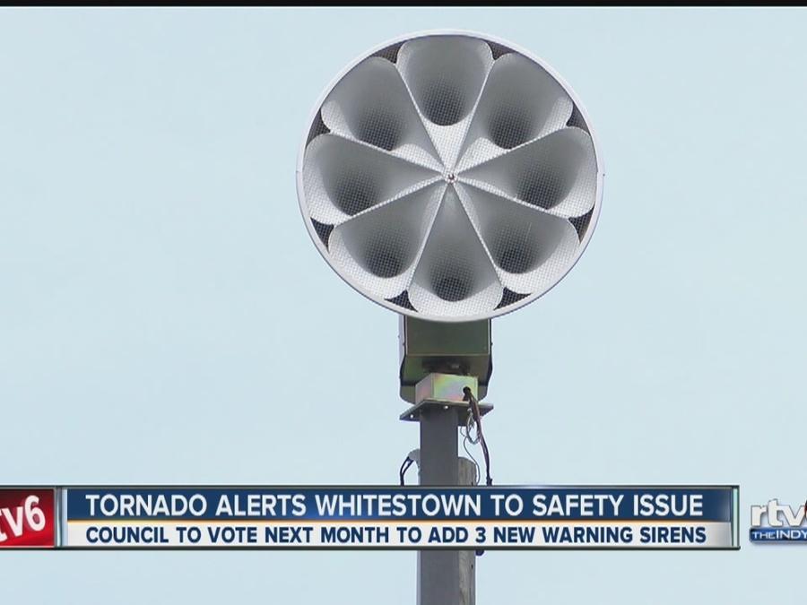 Tornado alerts Whitestown to safety issue