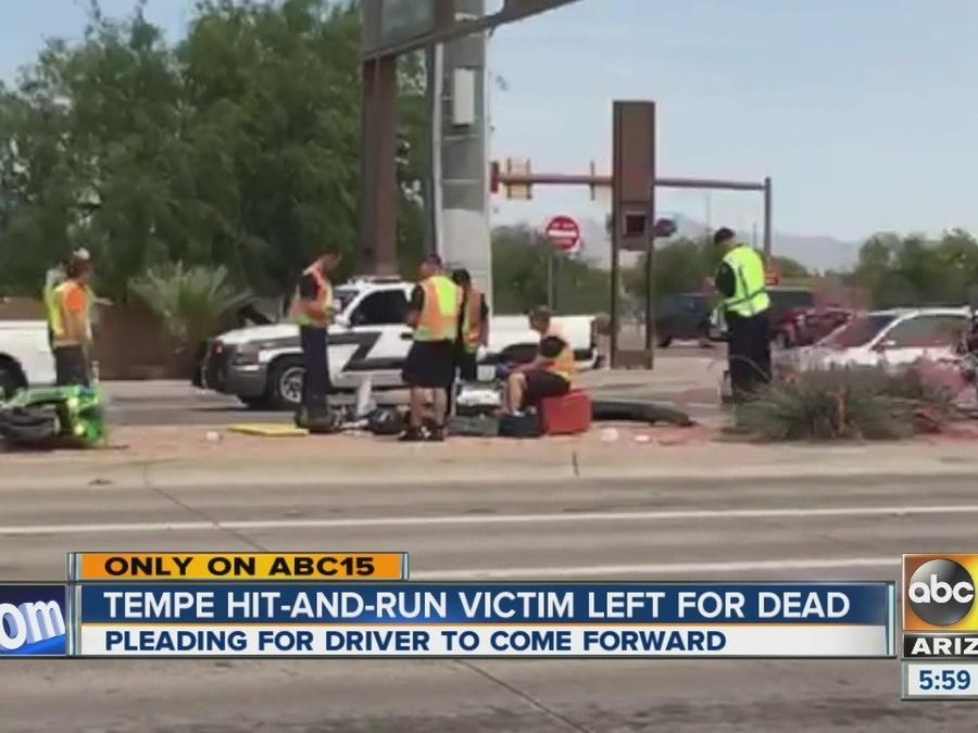 Tempe hit-and-run victim left for dead