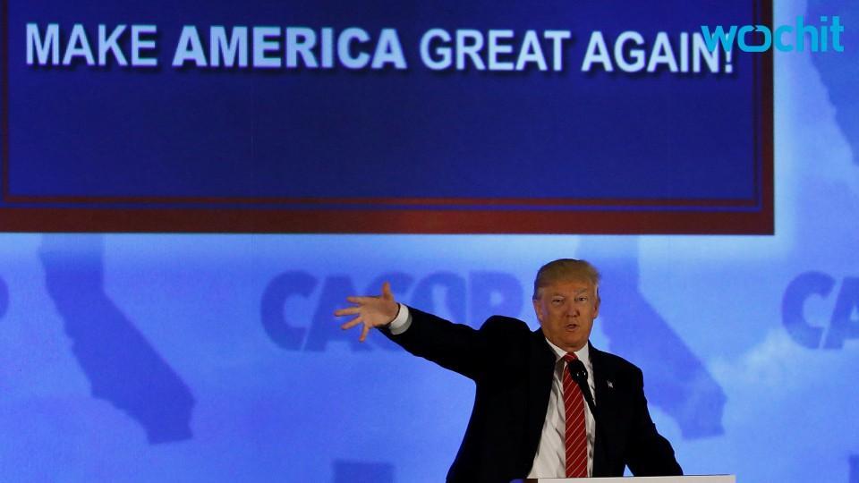 Trump Climbs A Grassy Knoll To Evade Protestors