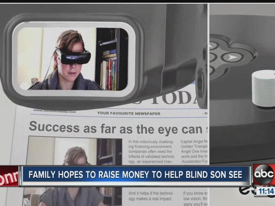 Family raising money to give gift of sight to 13 year old