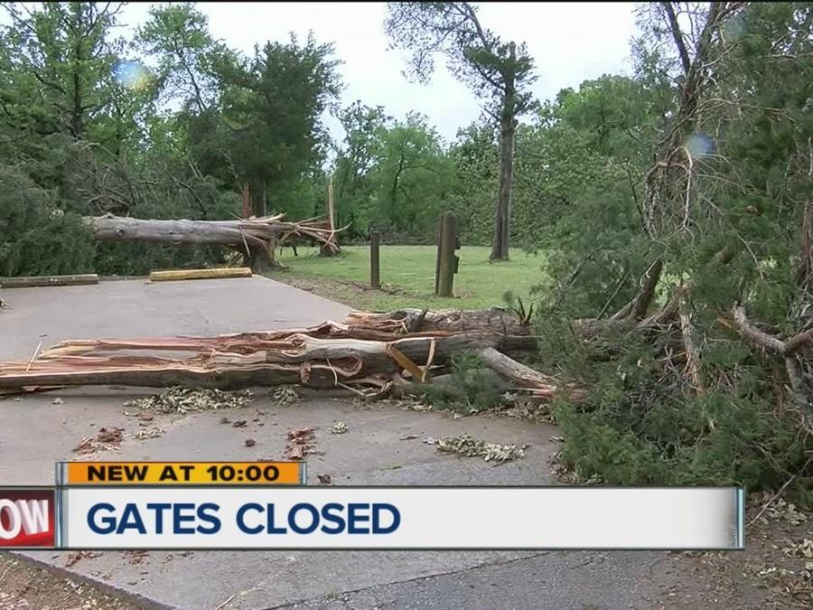Gates Closed At Green Leaf State Park