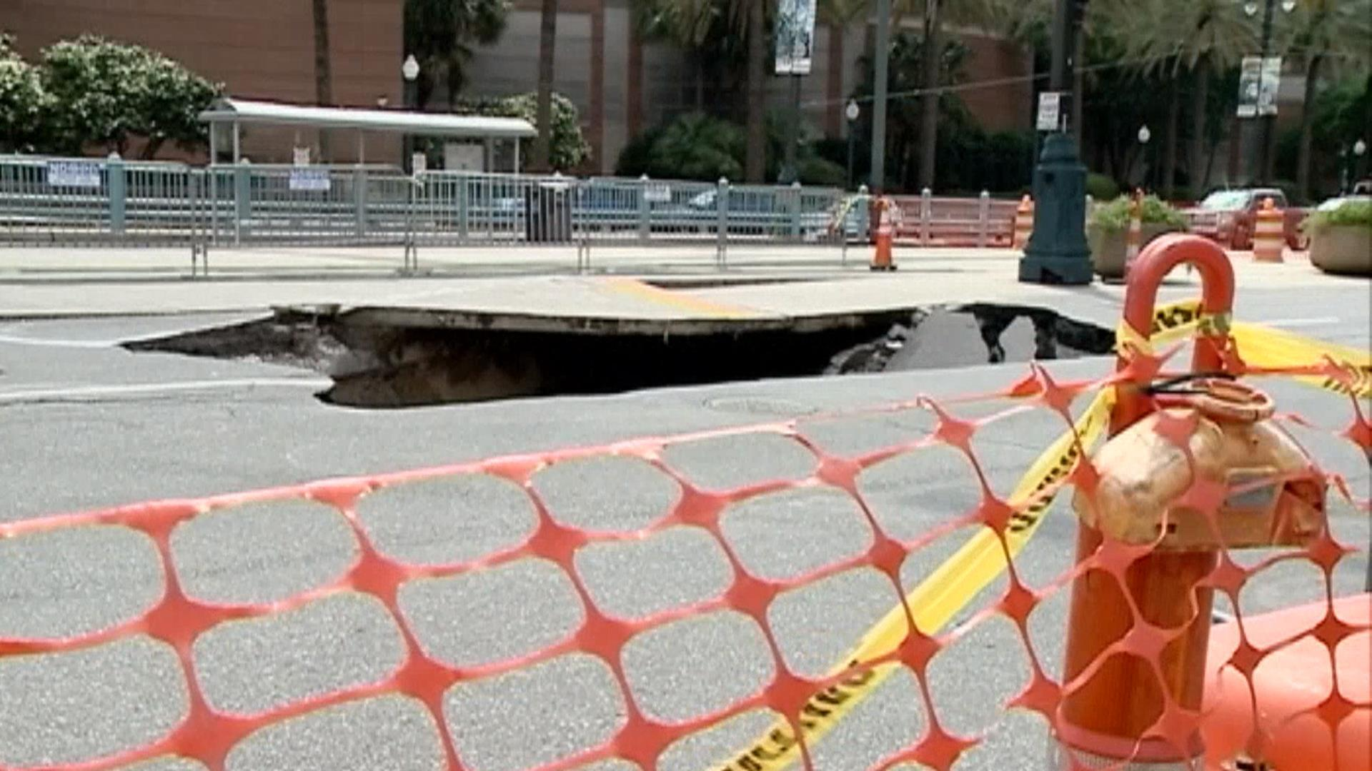 Sinkhole Swallows New Orleans Street