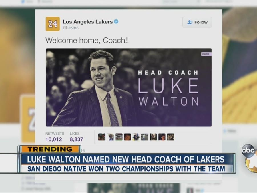 Luke Walton named new head coach of the Lakers