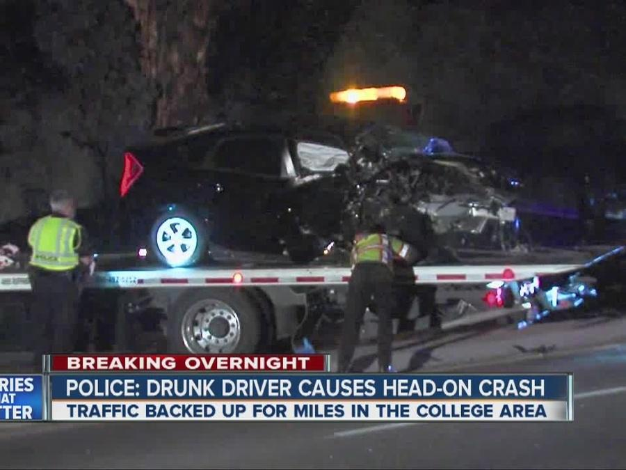 Police: Suspected drunk driver causes head-on crash on Montezuma Road