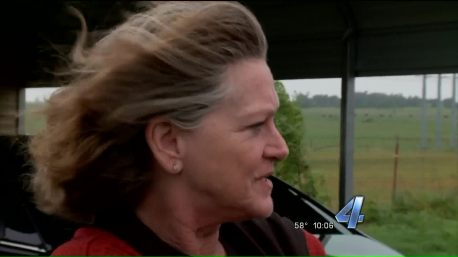 Family Watches From Car As Tornado Destroys Home