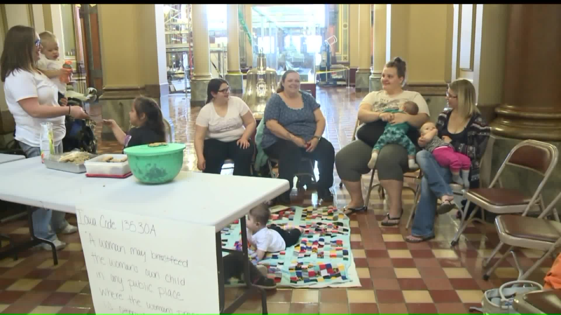 Public Breastfeeding Awareness Rally Held At Iowa State Capitol