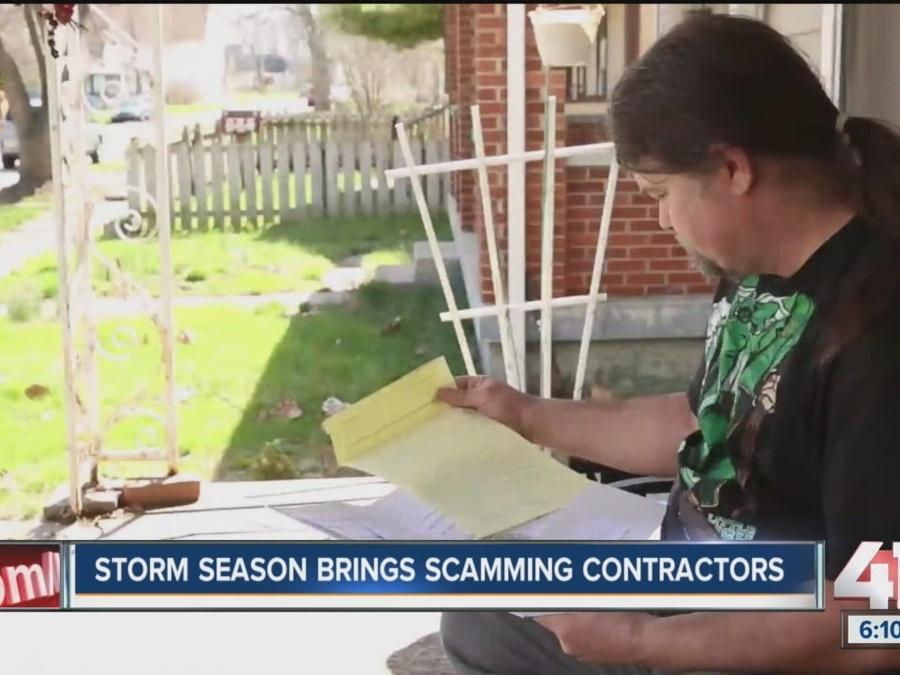 Angie's List: Storm season brings scamming contractors