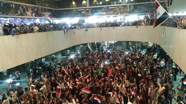 Protesters Storm Iraqi Parliament