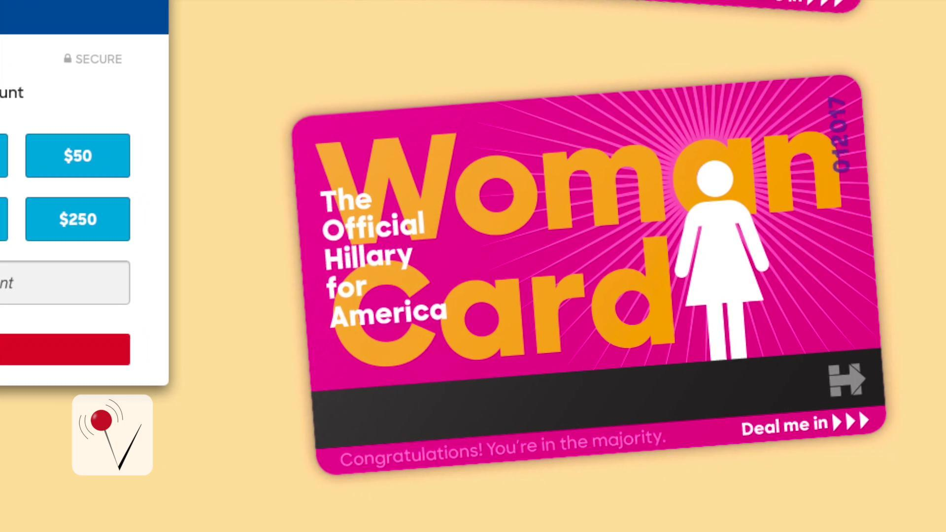 "Hillary Clinton Is Now Literally Dealing The ""Woman Card"""