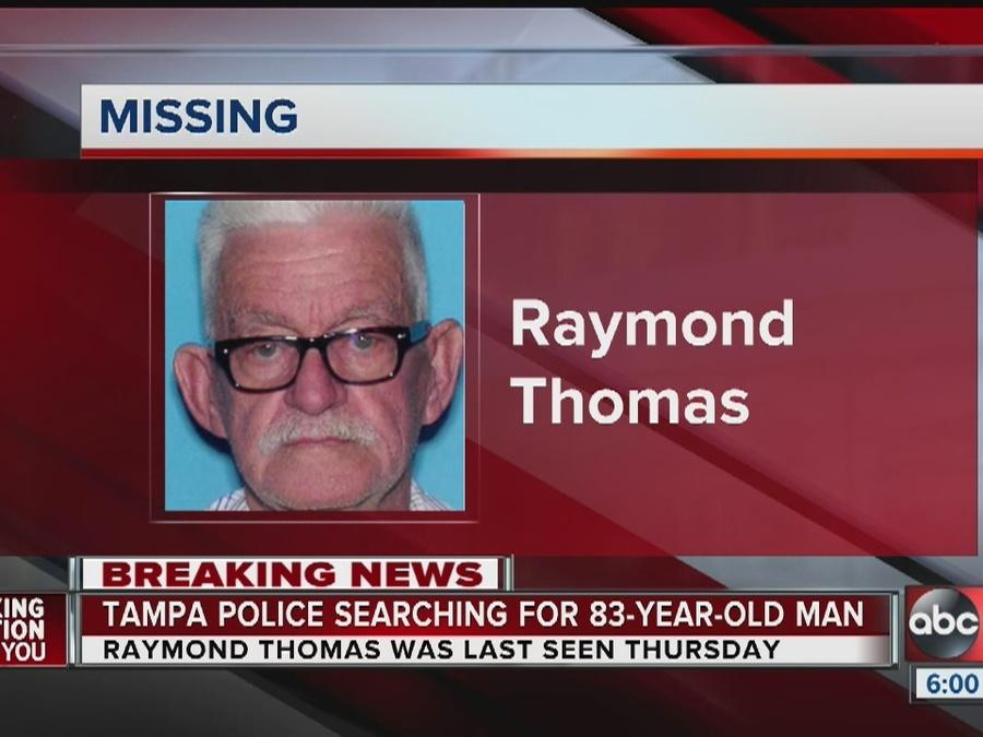 Tampa Police issue Silver Alert for missing 83-year-old man