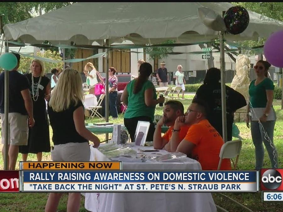 Rally raising awareness on domestic violence
