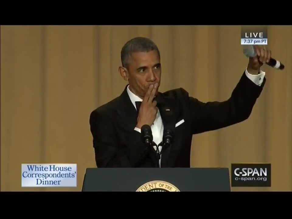 Obama Does Epic Mic Drop