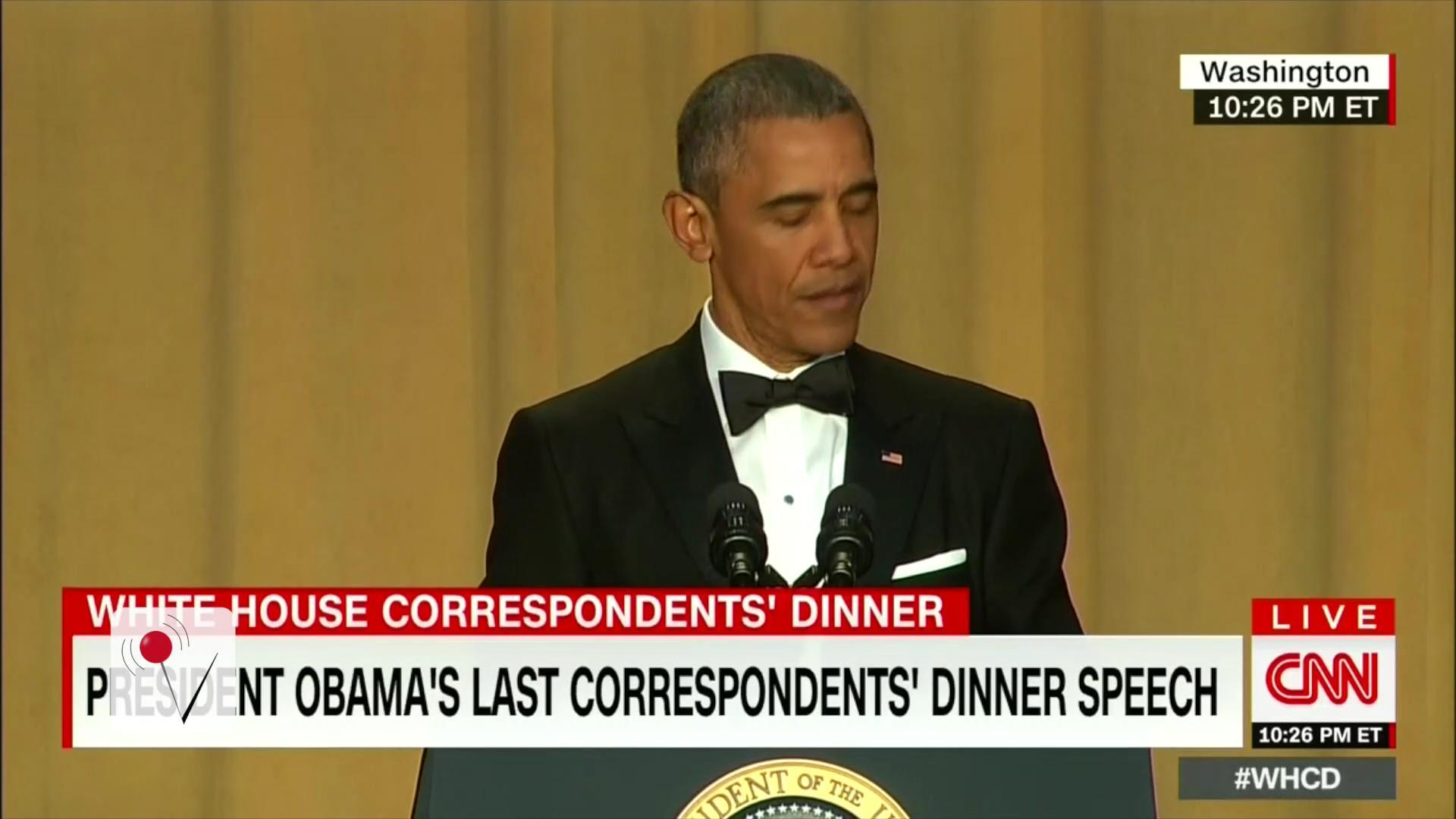 Pres. Obama not pulling any punches at WH Correspondent's Dinner