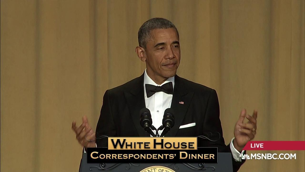 Obama gets laughs at Correspondents' Dinner