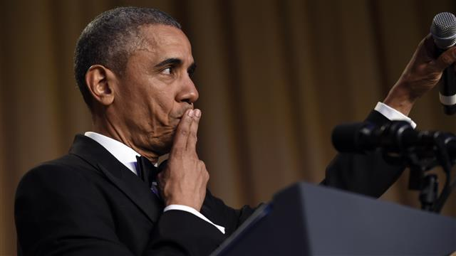 'Obama Out:' President Obama Drops Mic at White House Correspondents' Dinner