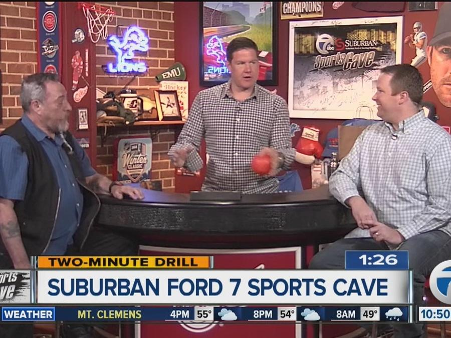 Sending off retiring Channel 7 photographer Daryl St. Arno on the Suburban Ford 7 Sports Cave