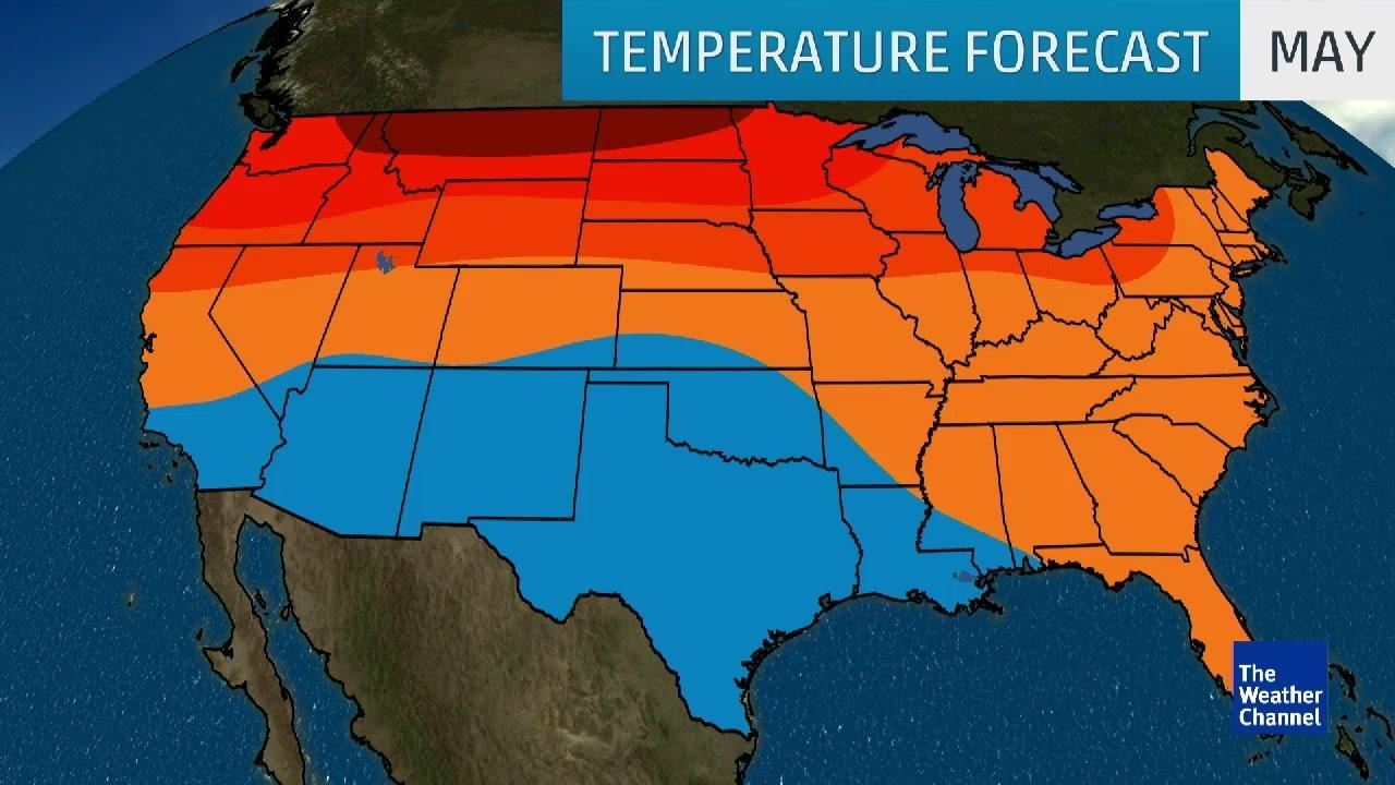 May Temps Will be Above Average Across Much of Country