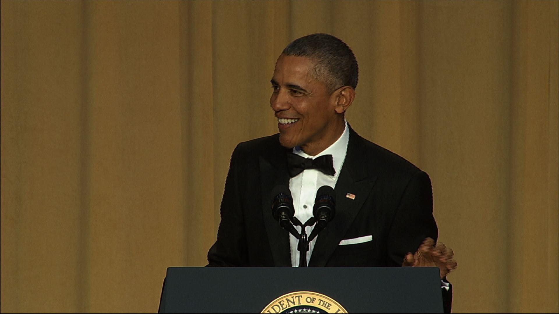 Obama Delivers Zings at Correspondents' Dinner