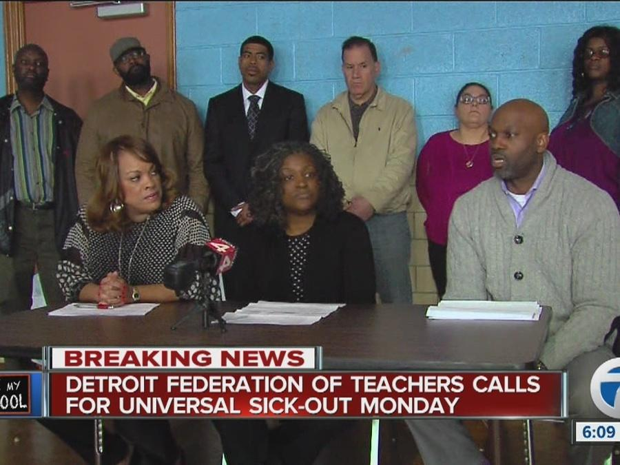 Detroit Federation of Teachers calls for universal sick out Monday