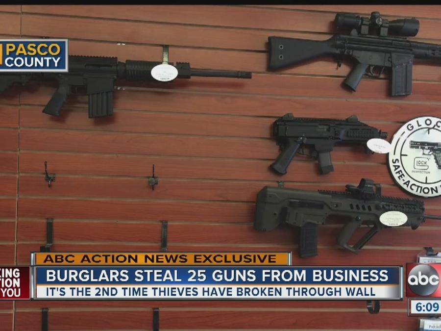 Burglars break into Wesley Chapel gun store