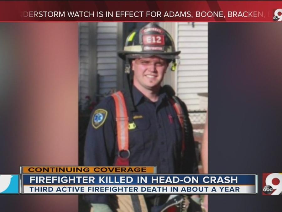 Cincinnati firefighter Jordan Pieniazek killed in head-on crash