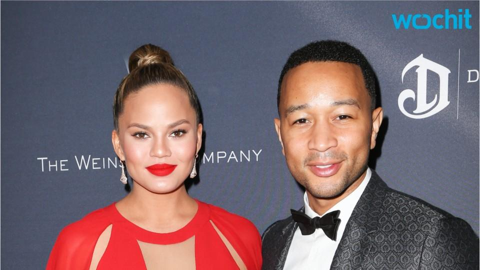 Chrissy Teigen & John Legend Party Hard At Jessica Alba's B-Day Soiree