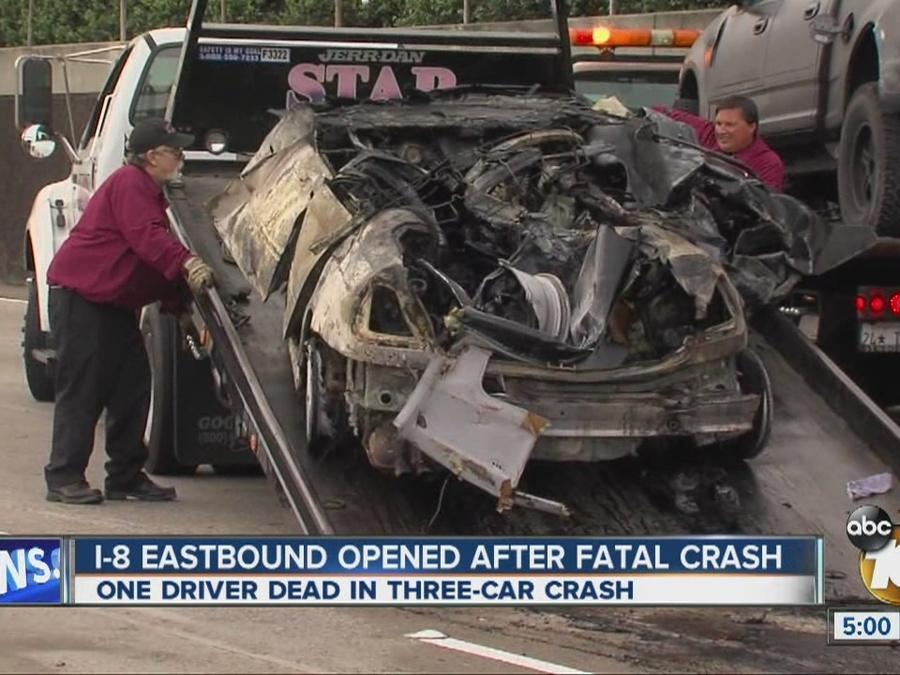 I-8 eastbound reopened after fatal crash