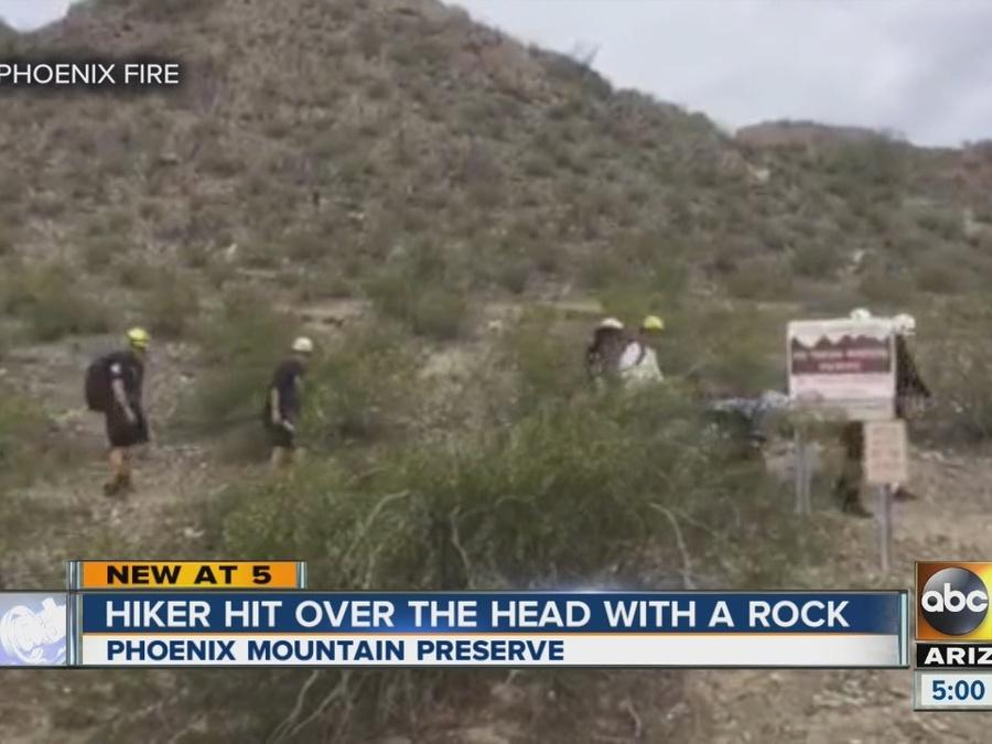 Man attacked with rock at Phoenix Mountain Preserve