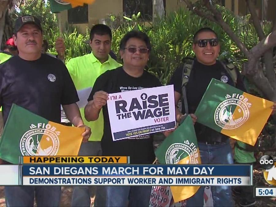 San Diegans march for May Day