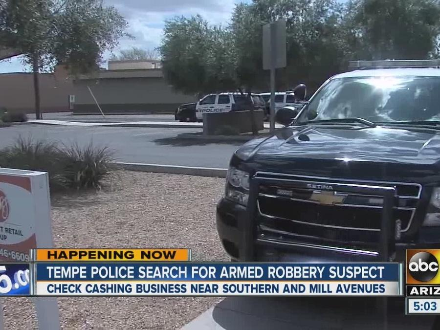 Tempe police looking for armed robbery suspect