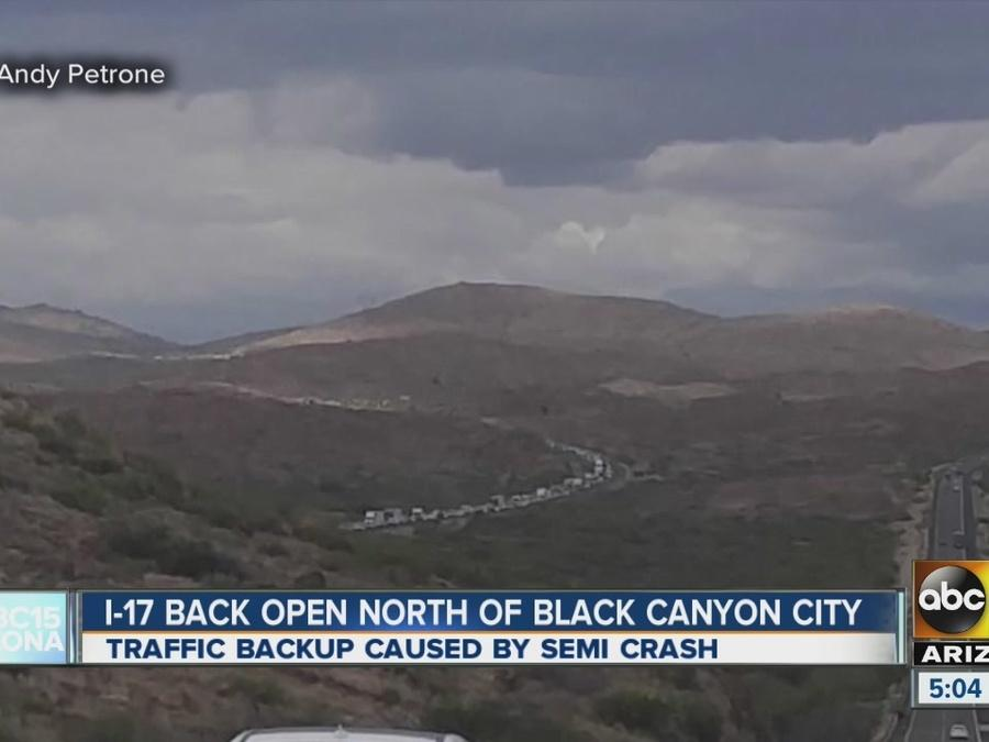 Crash slows traffic on I-17 SB near Black Canyon City
