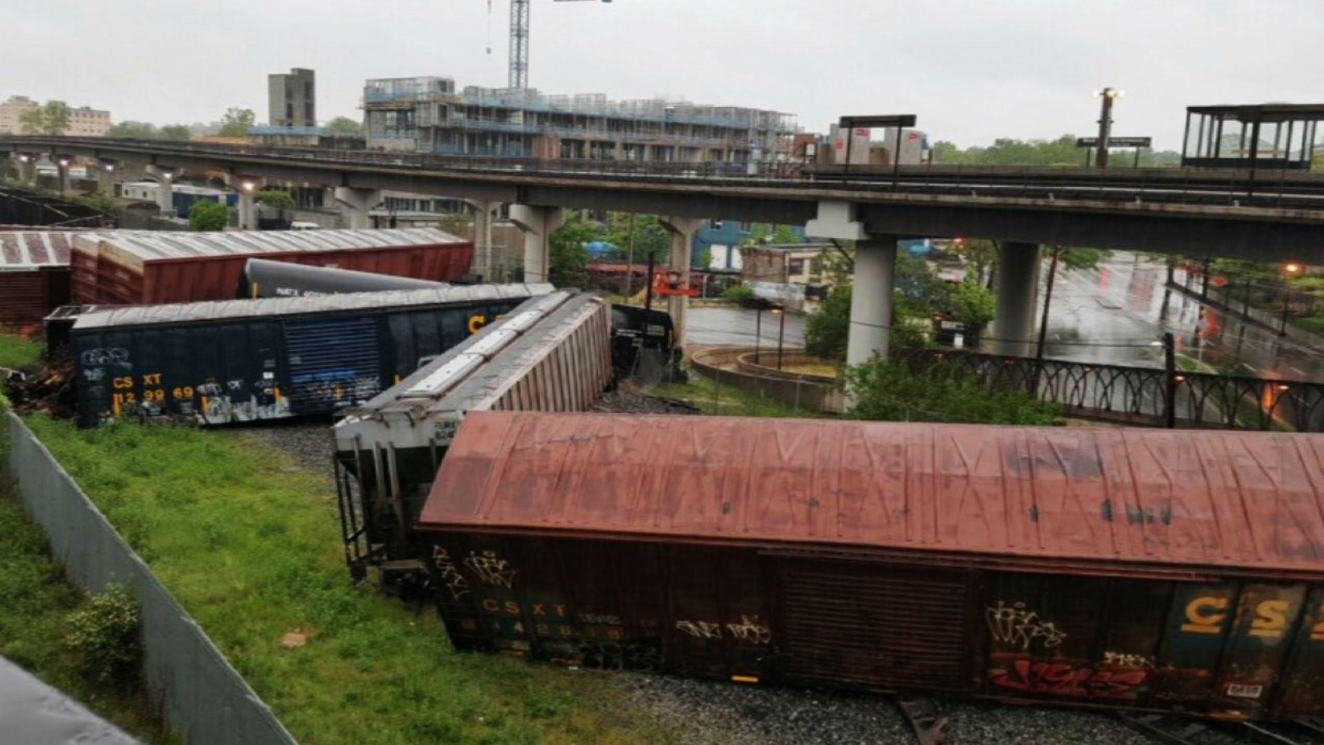 Train Derails in DC; Leaks Hazardous Chemical