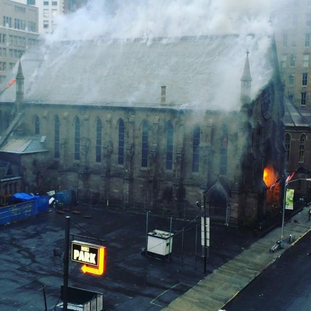 New Video Shows Start of Manhattan Cathedral Fire