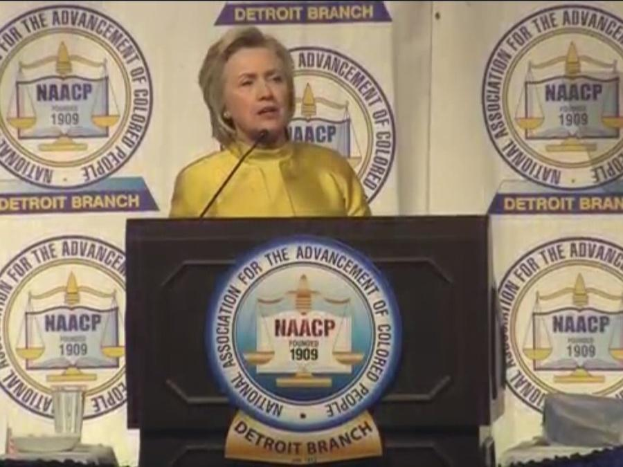 Hillary Clinton keynotes Detroit's NAACP dinner