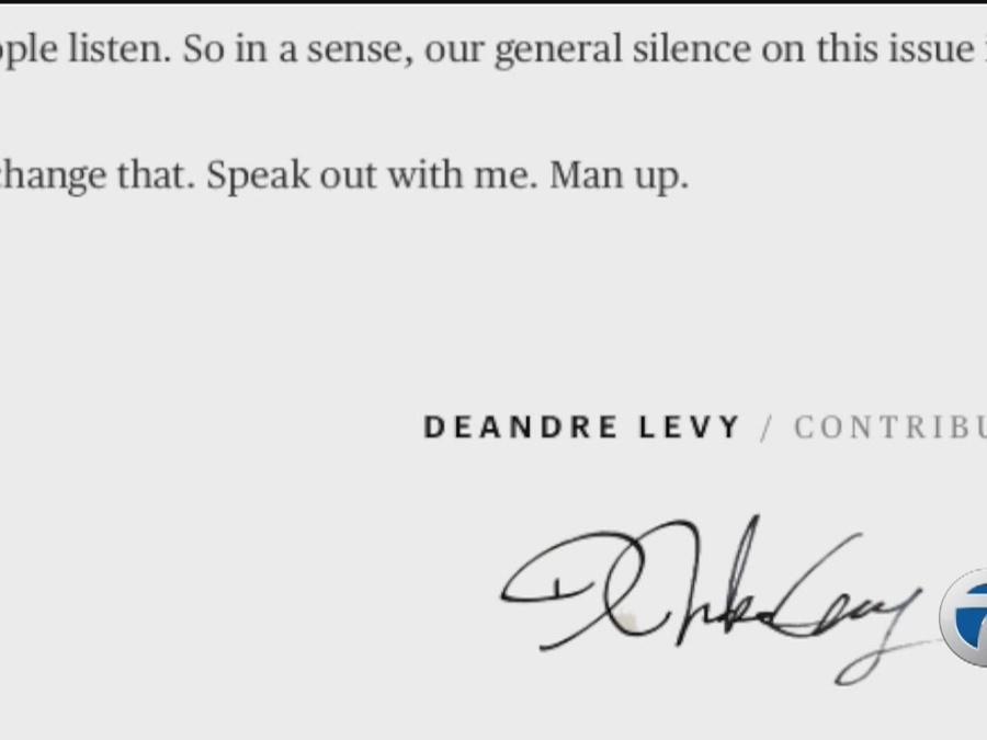 DeAndre Levy pens article on sexual assault