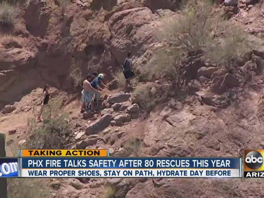 Phoenix Fire responds to nearly 80 mountain rescues in first four months of 2016