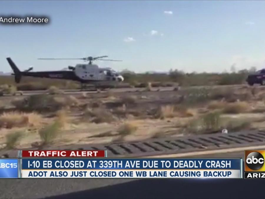 One killed, three injured in I-10 rollover crash