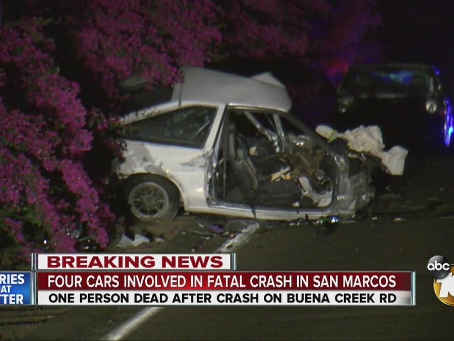 Four Cars Crash in San Marcos, One Dead