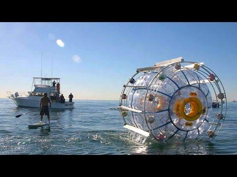 Man Rescued After Attempting To Cross Ocean In Hamster Wheel…Again