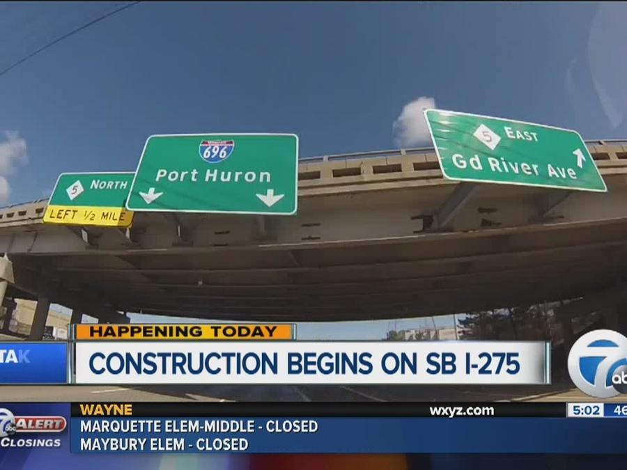 Construction begins on SB I-275