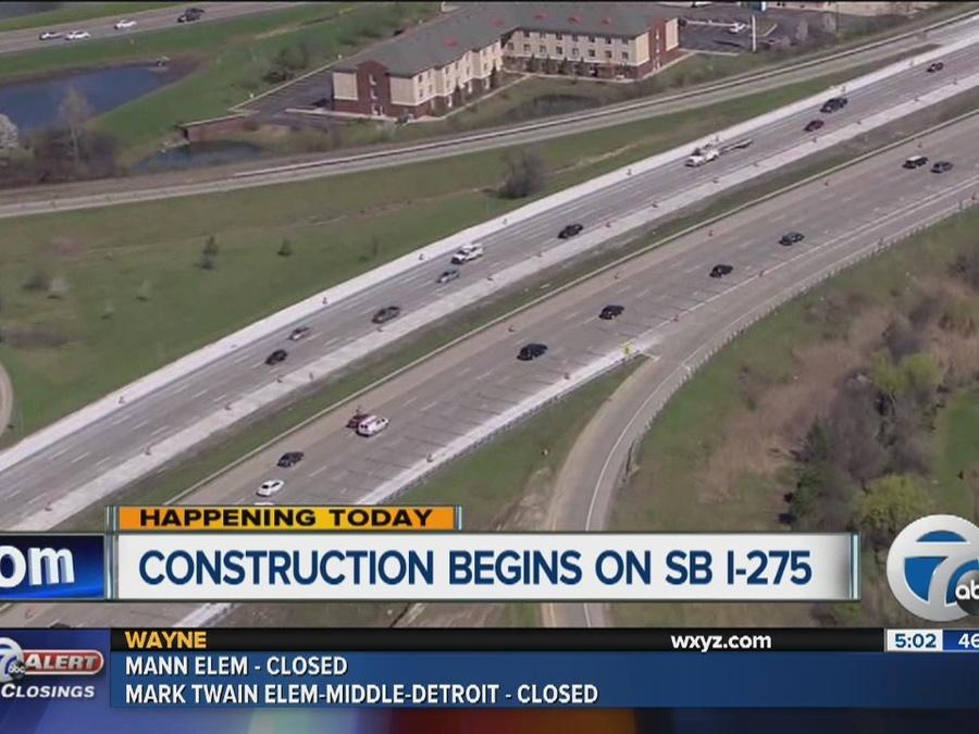 Construction begins on I-275 southbound