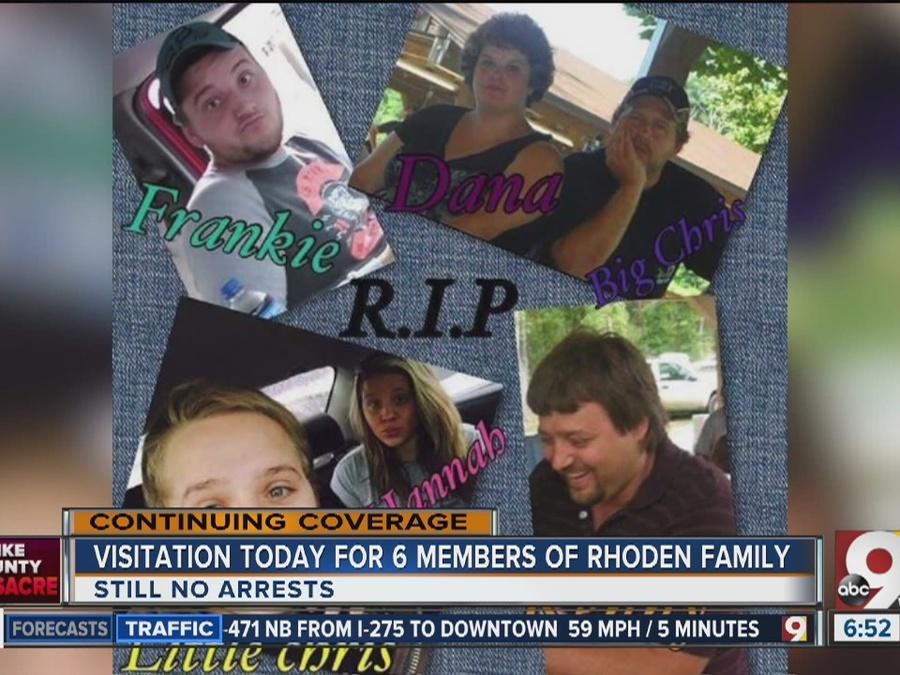 Visitation today for 6 murdered members of Rhoden family in West Portsmouth