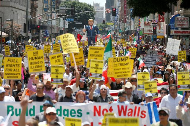 May Day rally in LA carries strong anti-Trump theme