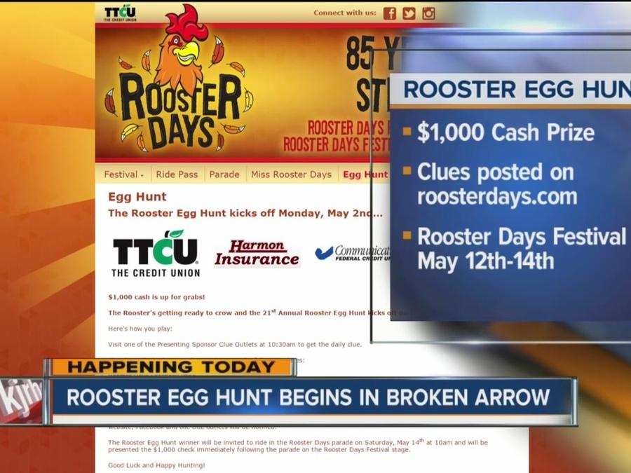Rooster Egg Hunt begins in Broken Arrow