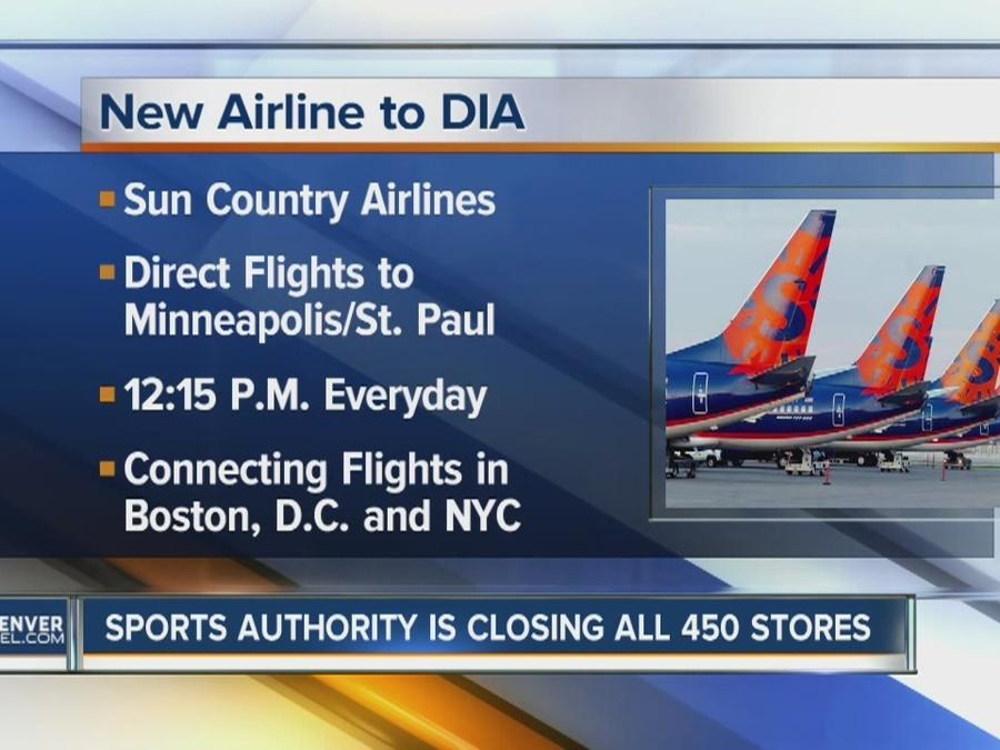 Sun Country Airlines offering new daily flight from DIA to Minneapolis