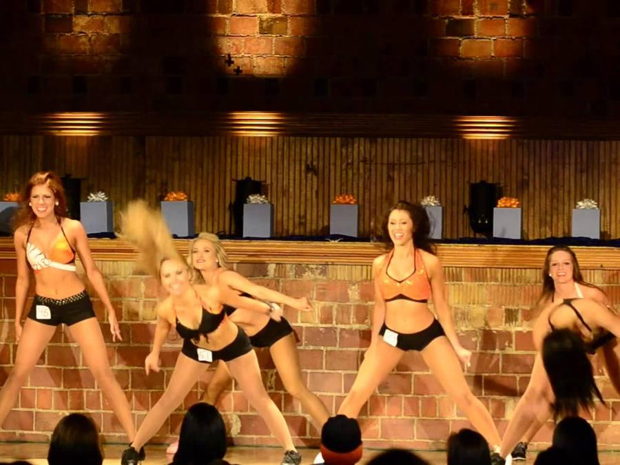 Ben-Gals hopefuls dance at final round of auditions to be a Bengals cheerleader